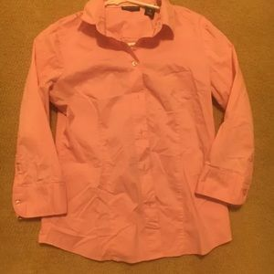 New York and Company Stretch Button Pink SZ Medium